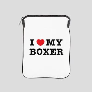 I Heart My Boxer Ipad Sleeve