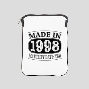 Made in 1998 - Maturity Date TDB iPad Sleeve