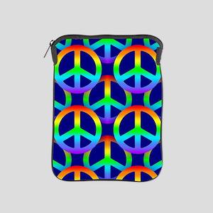 Rainbow Peace Sign Pattern iPad Sleeve