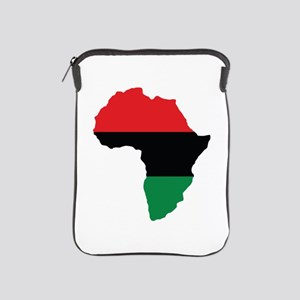 Red, Black and Green Africa Flag iPad Sleeve