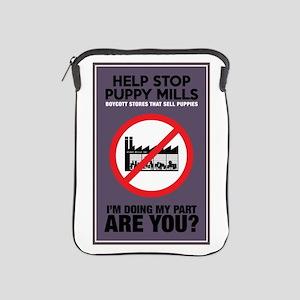 Stop Puppy Mills iPad Sleeve