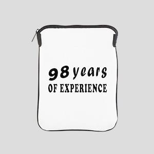 98 years birthday designs iPad Sleeve