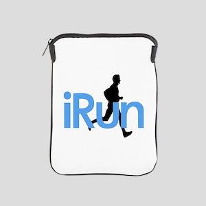 iRun in Blue iPad Sleeve