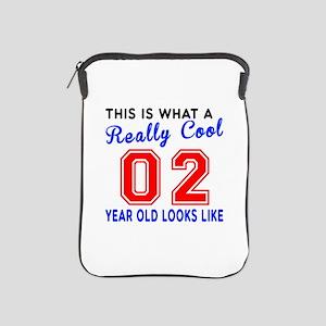 Really Cool 02 Birthday Designs iPad Sleeve