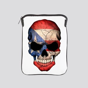 Puerto Rico Flag Skull Ipad Sleeve