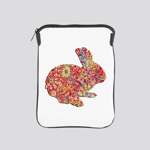 Colorful Floral Easter Bunny iPad Sleeve