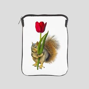 Squirrel Red Tulip iPad Sleeve