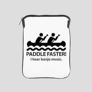 Paddle Faster I Hear Banjo Music iPad Sleeve