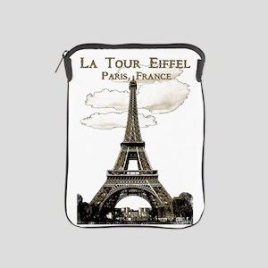Eiffel Tower-Paris-France-1-Sepia Ipad Sleeve