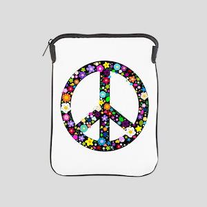Hippie Flowery Peace Sign iPad Sleeve