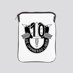 10th Special Forces - DUI - No Txt iPad Sleeve