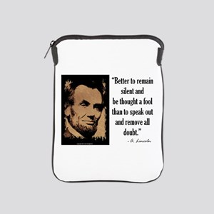 Remain Silent iPad Sleeve