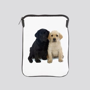 Black and White Labrador Puppies. iPad Sleeve