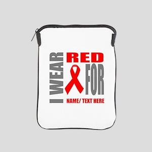 Red Awareness Ribbon Customized iPad Sleeve