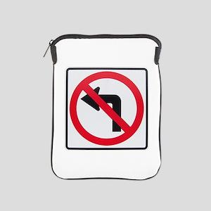 No Left Turn iPad Sleeve