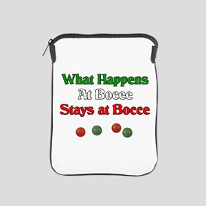 What happens at bocce stays at bocce. iPad Sleeve