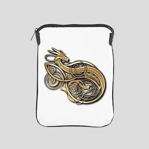 Gold Norse Dragon iPad Sleeve