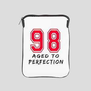 98 Year birthday designs iPad Sleeve