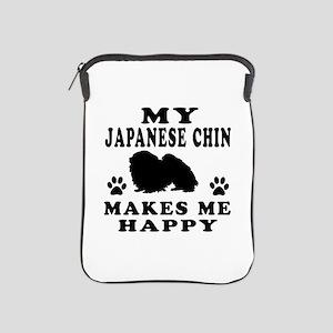 My Japanese Chin makes me happy iPad Sleeve