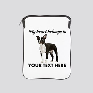 Personalized Boston Terrier iPad Sleeve