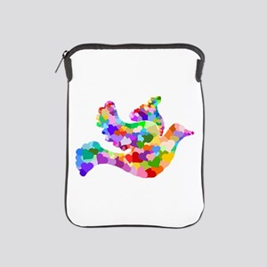 Rainbow Dove of Hearts iPad Sleeve