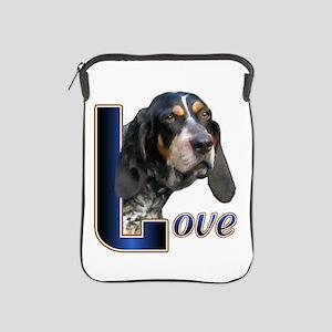 Bluetick Coonhound Love iPad Sleeve