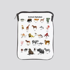 Animal pictures alphabet iPad Sleeve