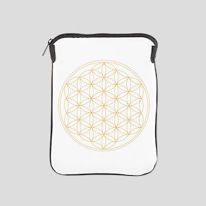 Flower of Life Gold Line iPad Sleeve
