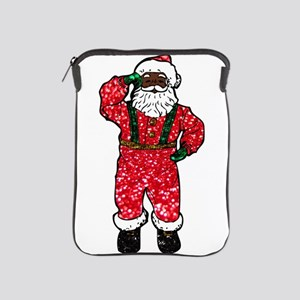 glitter black santa claus iPad Sleeve