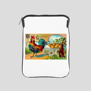 Vintage Easter Rooster iPad Sleeve