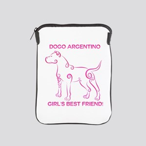 Girl's best friend-dogo argentino iPad Sleeve