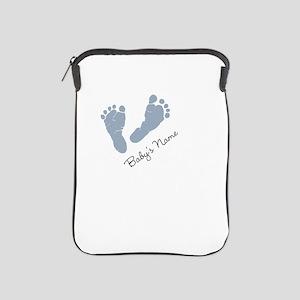 Baby Blue Footprints iPad Sleeve