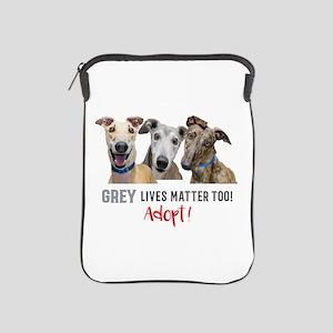 Grey Lives Matter Too ADOPT! iPad Sleeve