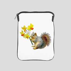 Squirrel Daffodils iPad Sleeve