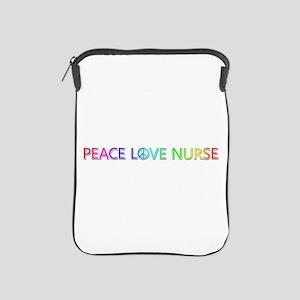 Peace Love Nurse iPad Sleeve