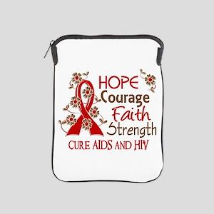 Hope Courage Faith AIDS iPad Sleeve