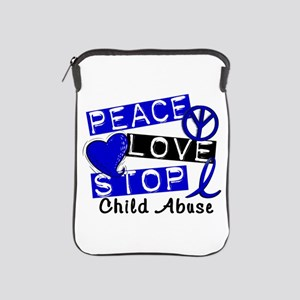 Peace Love Stop Child Abuse 1 iPad Sleeve
