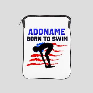 BORN TO SWIM iPad Sleeve