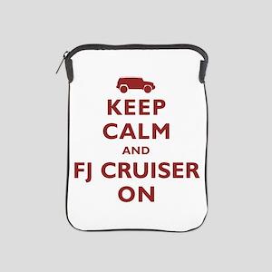 Keep Calm and FJ Cruiser On iPad Sleeve