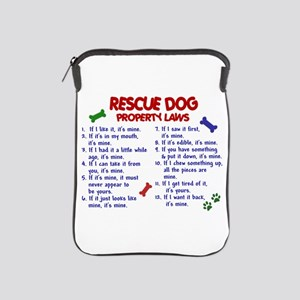 Rescue Dog Property Laws 2 iPad Sleeve