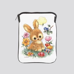 Cute Easter Bunny With Flowers And Ipad Sleeve