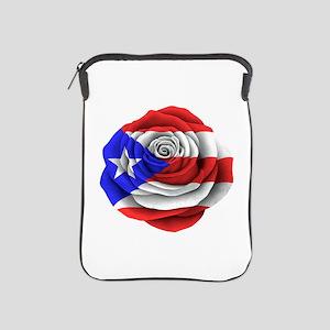 Puerto Rican Rose Flag Ipad Sleeve