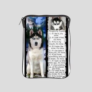 Siberian Husky Dog Laws Rules iPad Sleeve