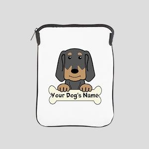 Personalized Black & Tan Coonhound iPad Sleeve