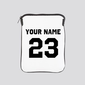 Customize sports jersey number iPad Sleeve