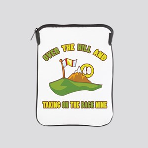 Golfing Humor For 40th Birthday iPad Sleeve