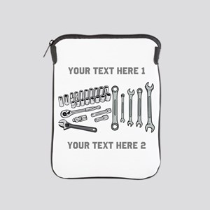 Wrenches with Text. iPad Sleeve