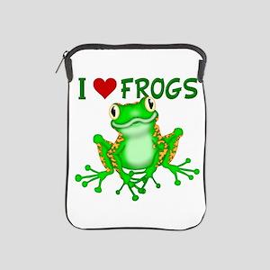 I Love (Heart) Frogs iPad Sleeve