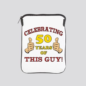 50th Birthday Gift For Him iPad Sleeve