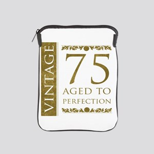 Fancy Vintage 75th Birthday iPad Sleeve